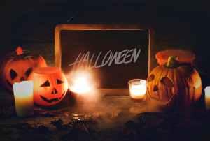 close up photo of halloween decors